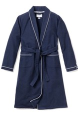 Petit Plume Navy Robe White Piping