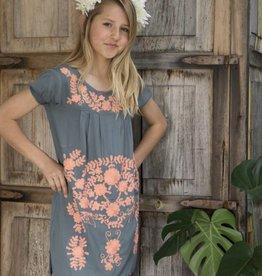 Joyous & Free Grey Coral Dress