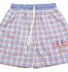 Little Threads Flag Swim Trunks