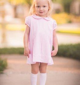 The Proper Peony Classic Pink Pleat Dress