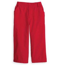 Bella Bliss Red Corduroy Faux Zip Pant