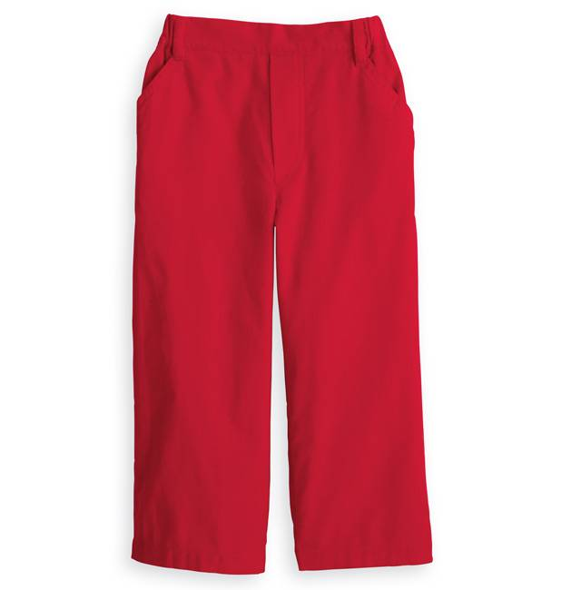 Bella Bliss Red Corduroy Faux Zip Pant
