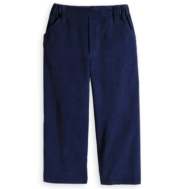 Bella Bliss Navy Corduroy Faux Zip Pant