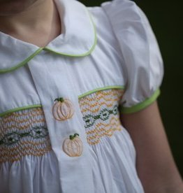 Lullaby Set Smocked Pumpkin Dress