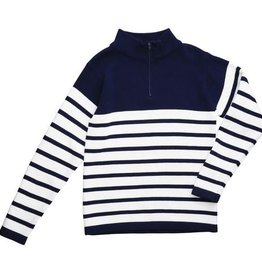 Busy Bees Navy Stripe Zip Sweater