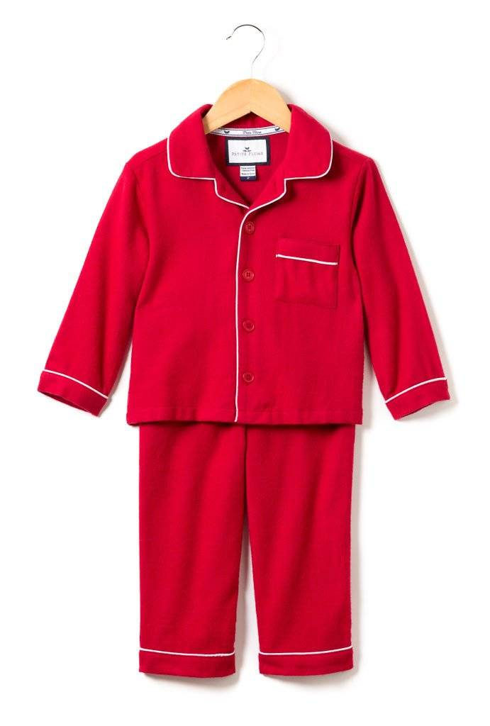 Petite Plume Classic Red Flannel PJs