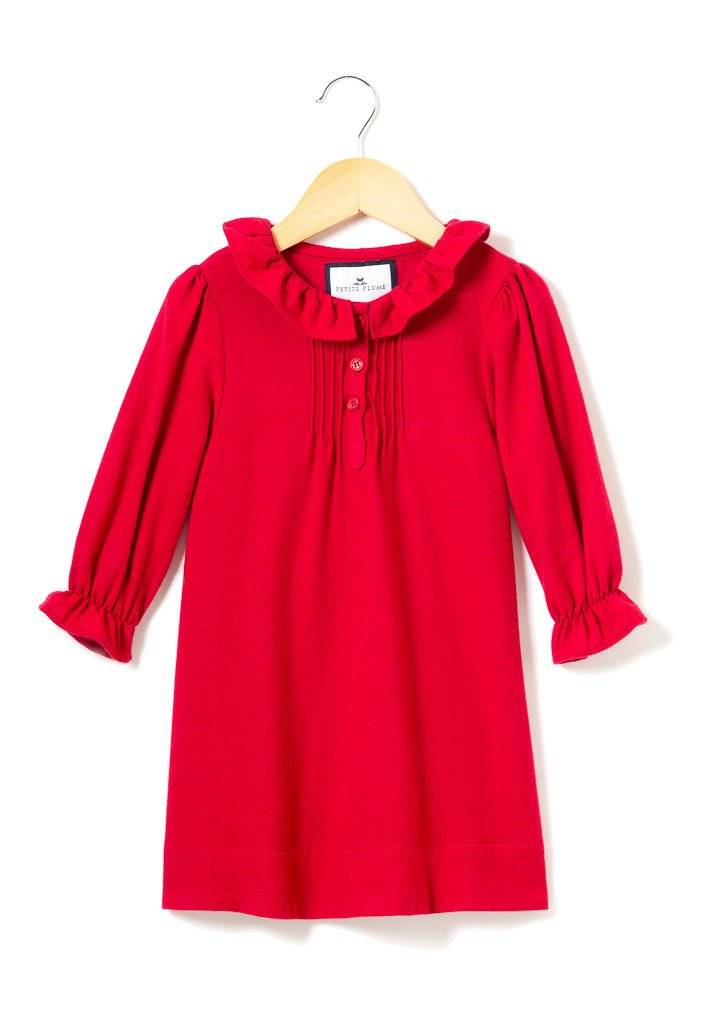 Petite Plume Red Flannel Victoria Nightgown