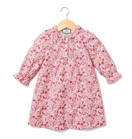 Petite Plume Red Floral Victoria Nightgown