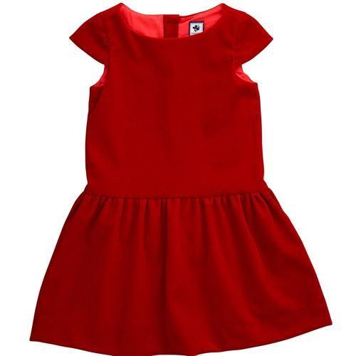 Busy Bees Alexa Red Velveteen Dress