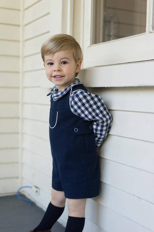 Busy Bees Jack Shortall Navy Flannel