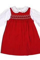 Petit Ami Red Pearl Dress