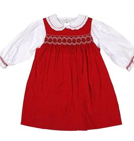 Petit Ami Red Pearl Dress