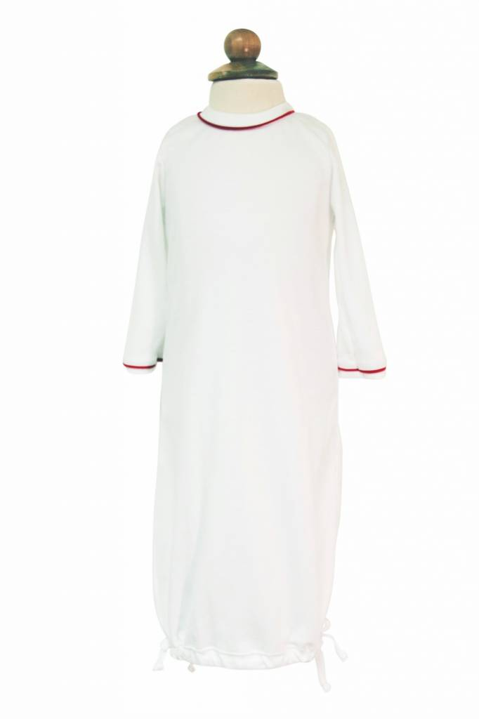 Lila & Hayes George Daygown White & Red