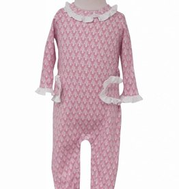 Lila & Hayes Lucy Pink Trees Romper