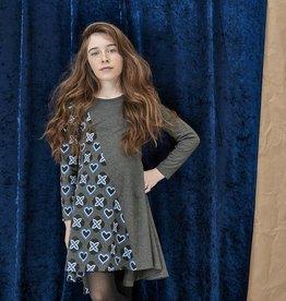 Blu by Blu Charcoal Printed Dress