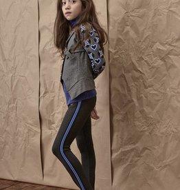 Blu by Blu Striped Black Leggings
