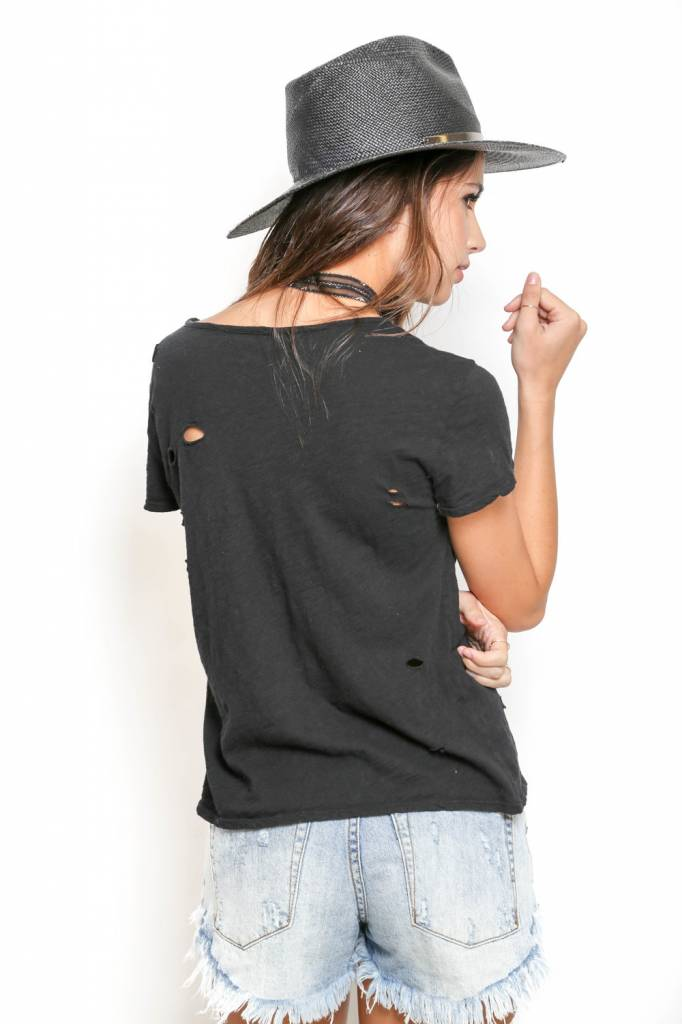 NYTT NYTT Distressed Slub Tee