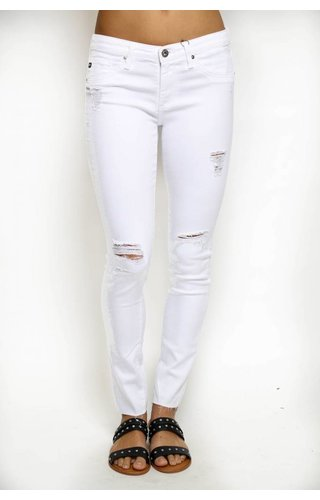 AG AG Worn White Legging Ankle