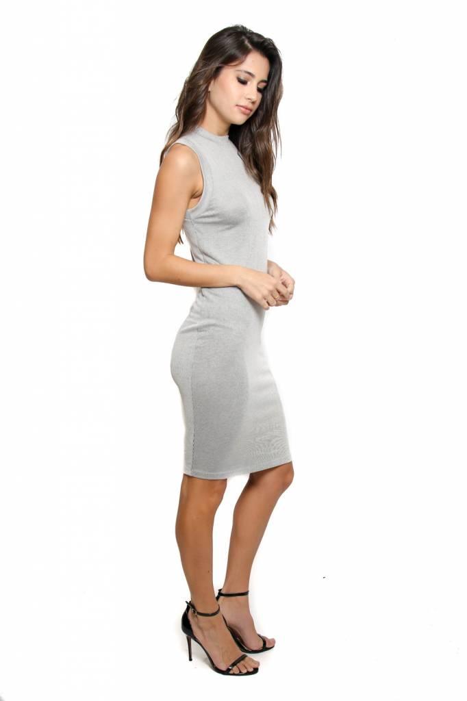 Bella Luxx Bella Luxx Microrib Midi Dress