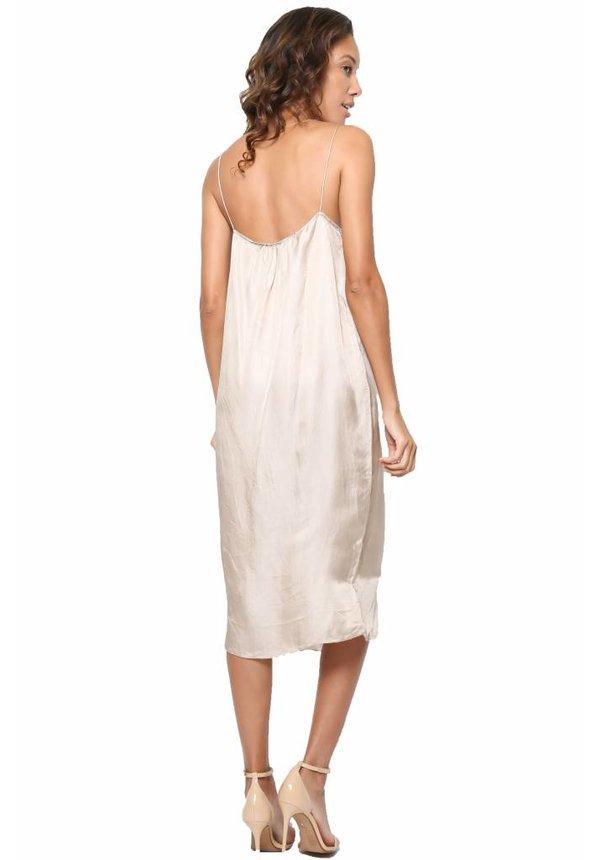 Chan Luu Rayon Satin Slip Dress