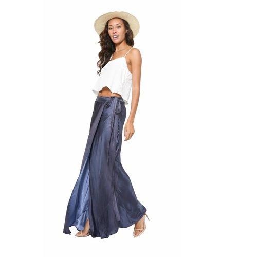 Chan Luu Chan Luu Rayon Satin Wrap Skirt
