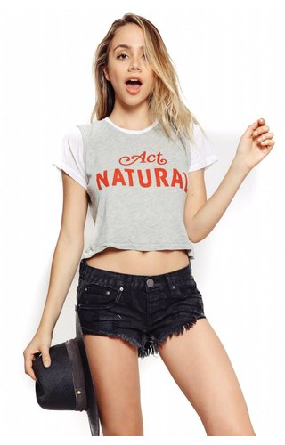 Wildfox Couture Wildfox Middie Tee Act Natural