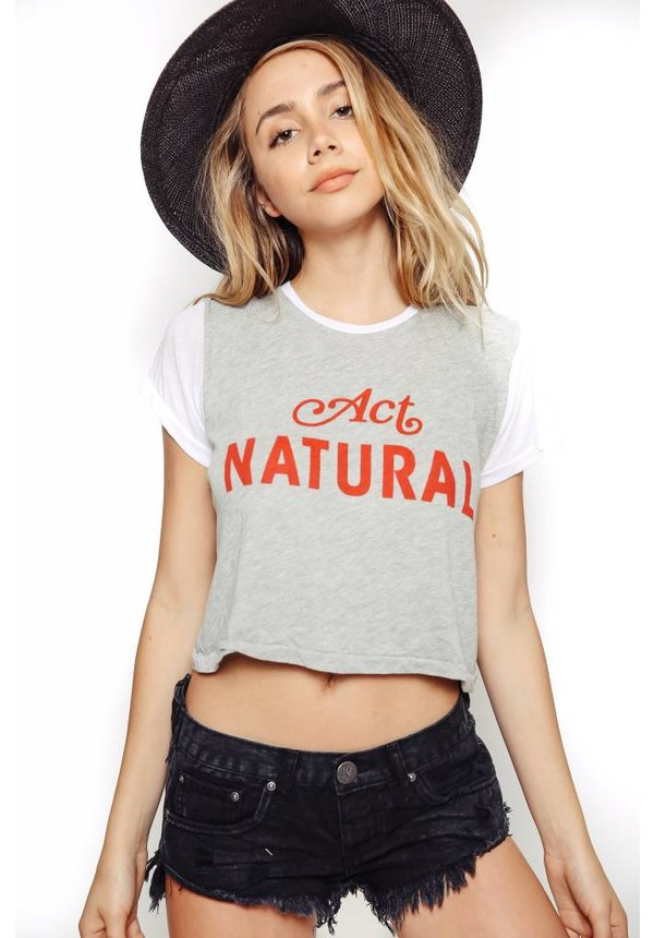 Wildfox Middie Tee Act Natural