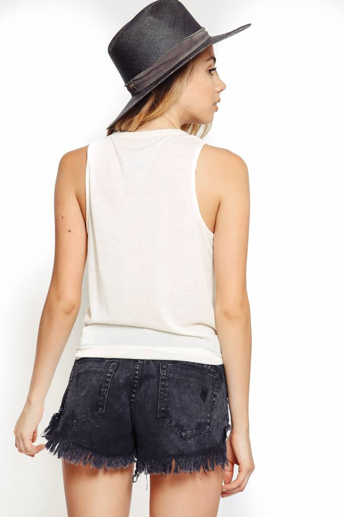 Chaser Chaser Vintage Jersey Basic Muscle Tank