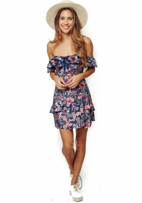 For Love & Lemons Flora Off-Shoulder Mini Dress