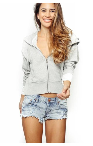 Nation LTD Nation Broadway Slouch Sleeve Zip Hoodie