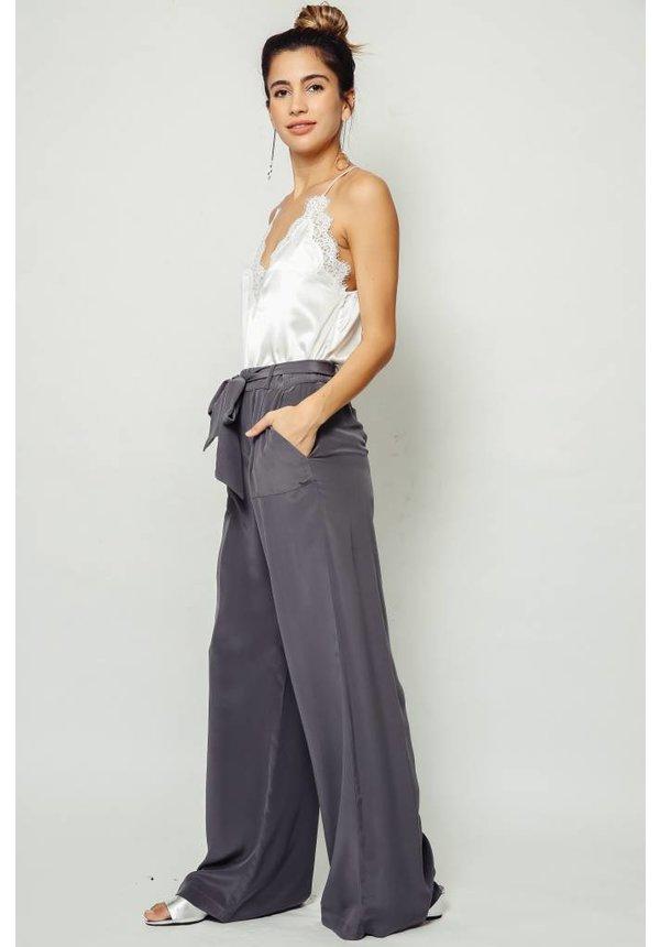 Nightcap Belted Silk Pant