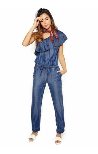 1 State 1 State Ruffle Edge Jumpsuit