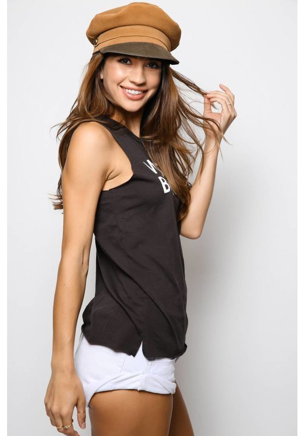 Chaser Vintage Jersey Hi Lo Muscle Tee