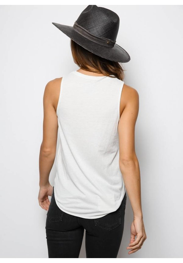 Chaser Vintage Jersey Basic Muscle Tank