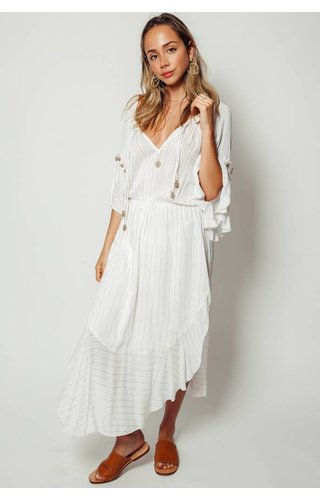 Saylor Saylor Rosa Ruffle Sleeve Maxi Dress