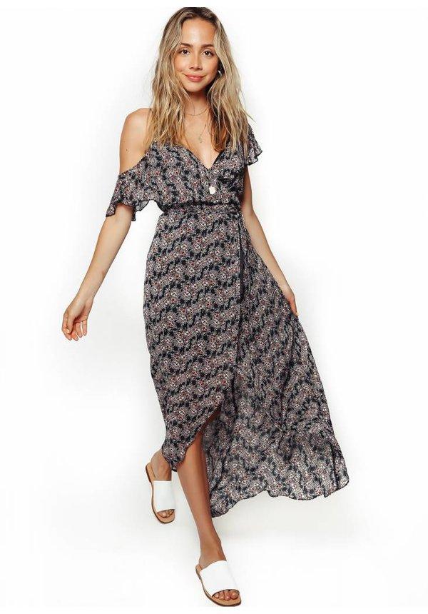 Karina Grimaldi Paulette Print Maxi Dress