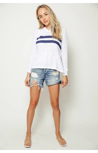 Sundry Sundry Striped Hooded Sweater