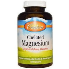 CARLSON LABORATORIES Chelated Magnesium 180t