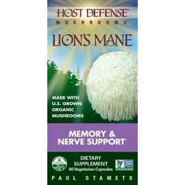 FUNGI PERFECTI, LLC Host Defense Lion's Mane 60v