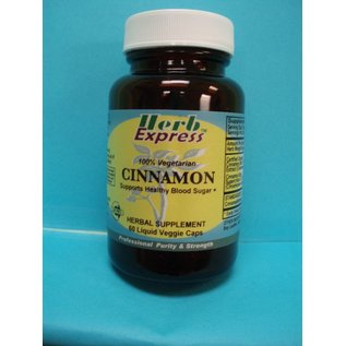 HERB EXPRESS Cinnamon 60 Liquid Veggie Caps
