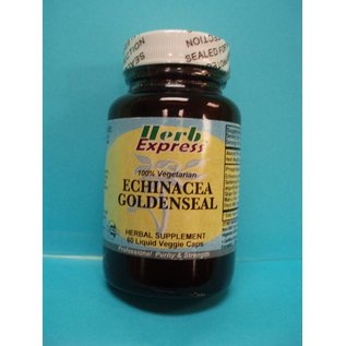 HERB EXPRESS Echinacea Goldenseal 60 Liquid Veggie Caps