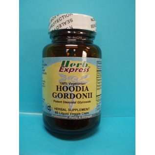 HERB EXPRESS Hoodia Gordonii  60 Liquid Veggie Caps Vitamin Express