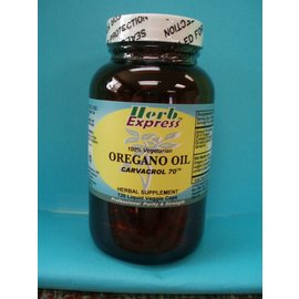 HERB EXPRESS Oregano Oil 120 Liquid Veggie Capsules