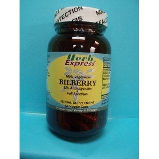 HERB EXPRESS Bilberry 60 Veggie Capsules Vitamin Express