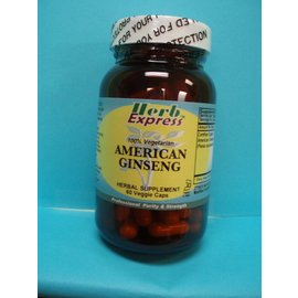 HERB EXPRESS American Ginseng 60 Veggie Capsules