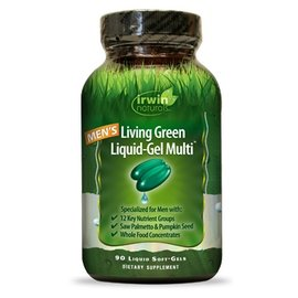 IRWIN NATURALS Men's living Green Liquid-Gel Multi 90sg