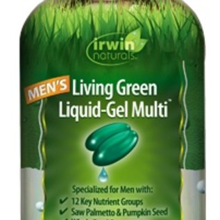 IRWIN NATURALS Men's living Green Liquid-Gel Multi 90sg