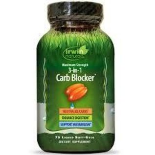 IRWIN NATURALS 3 in 1 Carb Blocker 75sg