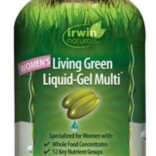 IRWIN NATURALS Women's Living Green Liquid-Gel Multi 90sg