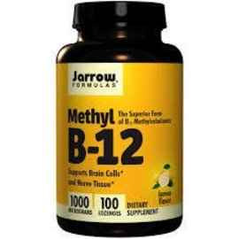 JARROW FORMULAS Methyl B-12 1000mcg 100 Lozenges